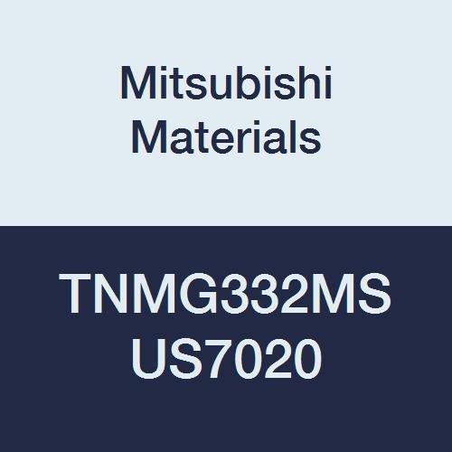Mitsubishi Materials TNMG332MS US7020 Carbide TN Type Negative Turning Insert with Hole, Coated, Triangular, Grade US7020, 0.375 IC, 0.187 Thick, 0.031 Corner Radius, MS Breaker (Pack of 10)