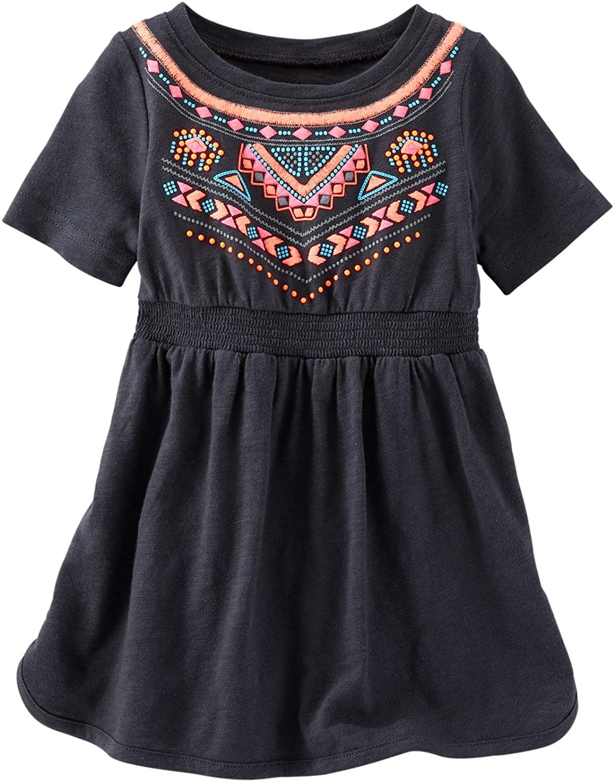 OshKosh B'Gosh Baby Girls' Embroidered Knit Dress (Baby) - Indigo Blue - 6 Months