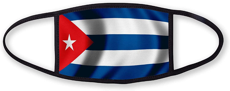 3-Layer reusable/washable Facemask - Flag of Cuba (Cuban) - Waves Design