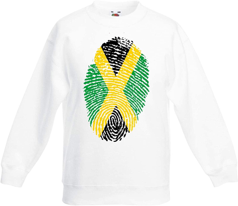Tribal T-Shirts Jamaican Flag Finger Print Reggae Children's Toddler Kids Sweatshirt Jumper