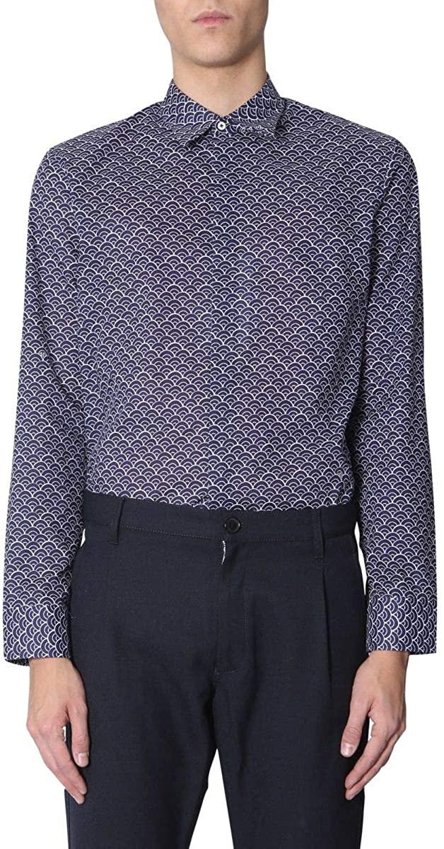 Maison Margiela Luxury Fashion Man S50DL0371S49689003S Blue Cotton Shirt | Season Outlet
