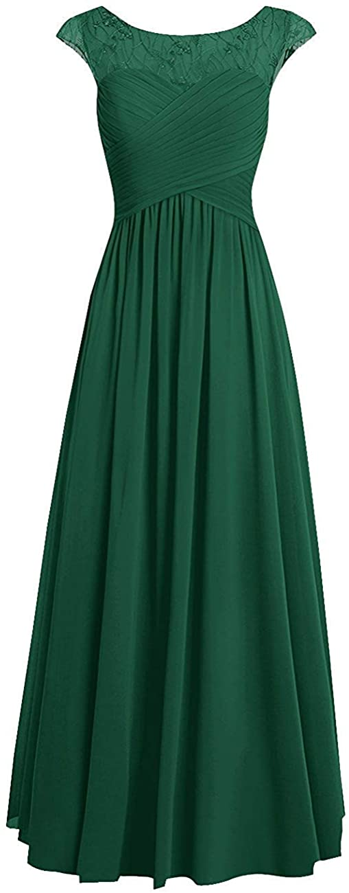 Bridesmaid Dresses Long Prom Dress Lace Evening Party Gowns Chiffon Formal Dress A Line