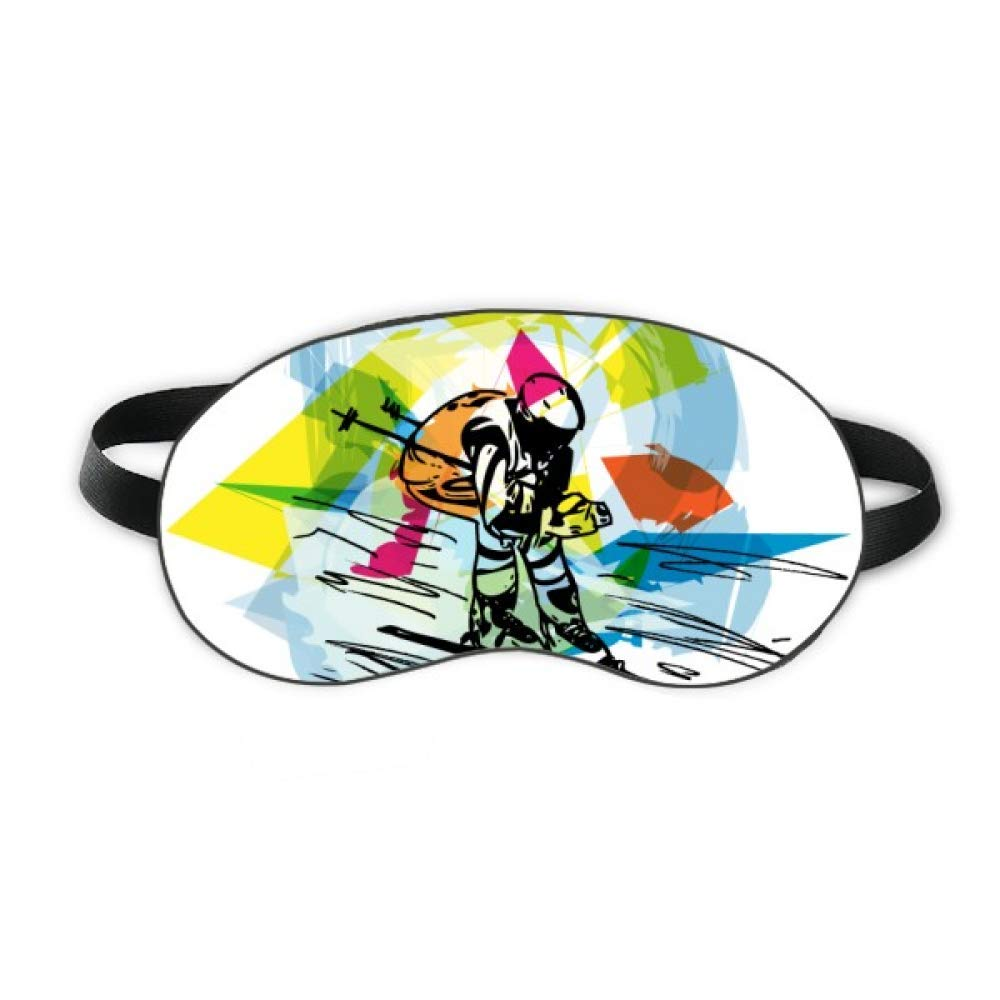 Winter Sport Freestyle Skiing Illustration Sleep Eye Shield Soft Night Blindfold Shade Cover