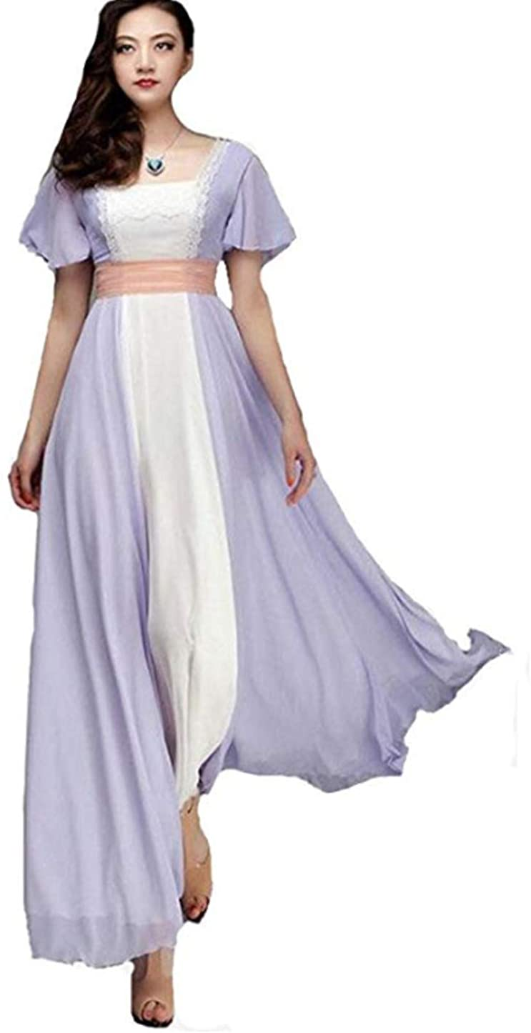 Titanic Rose Dress Evening Dress Chiffon Prom Gown Women Maxi Party Costume Dress