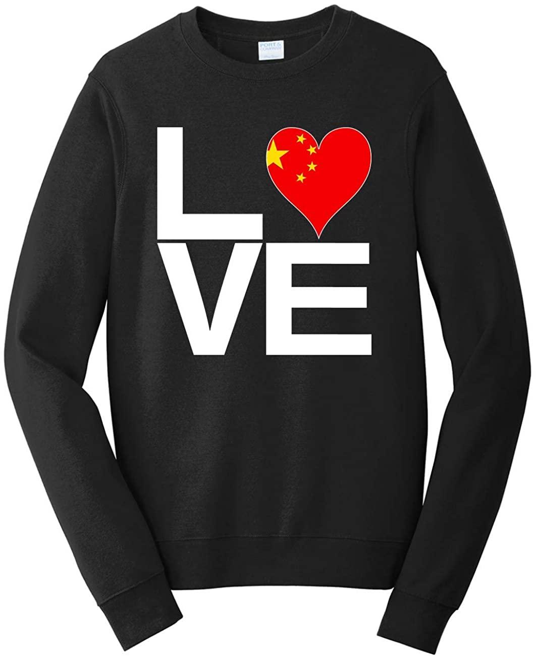 Tenacitee Unisex Love Block China Heart Sweatshirt