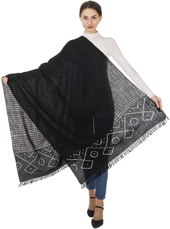 Rabarikaa Designer Ladies Shawl   Tie and Die work   Border Work Exclusively From Kutch Gujarat