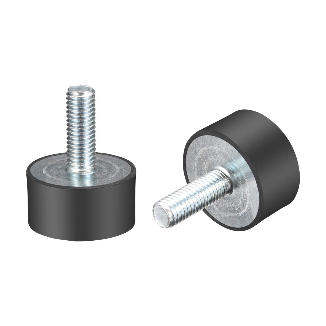 uxcell M8 Thread Rubber Mounts,Vibration Isolators,Cylindrical Shock Absorber with Studs 30mm x 15mm 2pcs