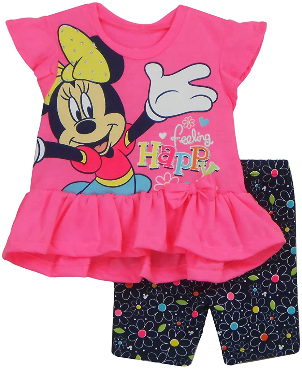 GiftsNBeyond Disney Minnie Mouse Toddlers Girls Feeling Happy 2 Piece Short Set