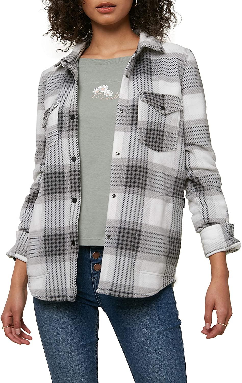 O'NEILL Women's Long Sleeve Woven Fleece Shirt