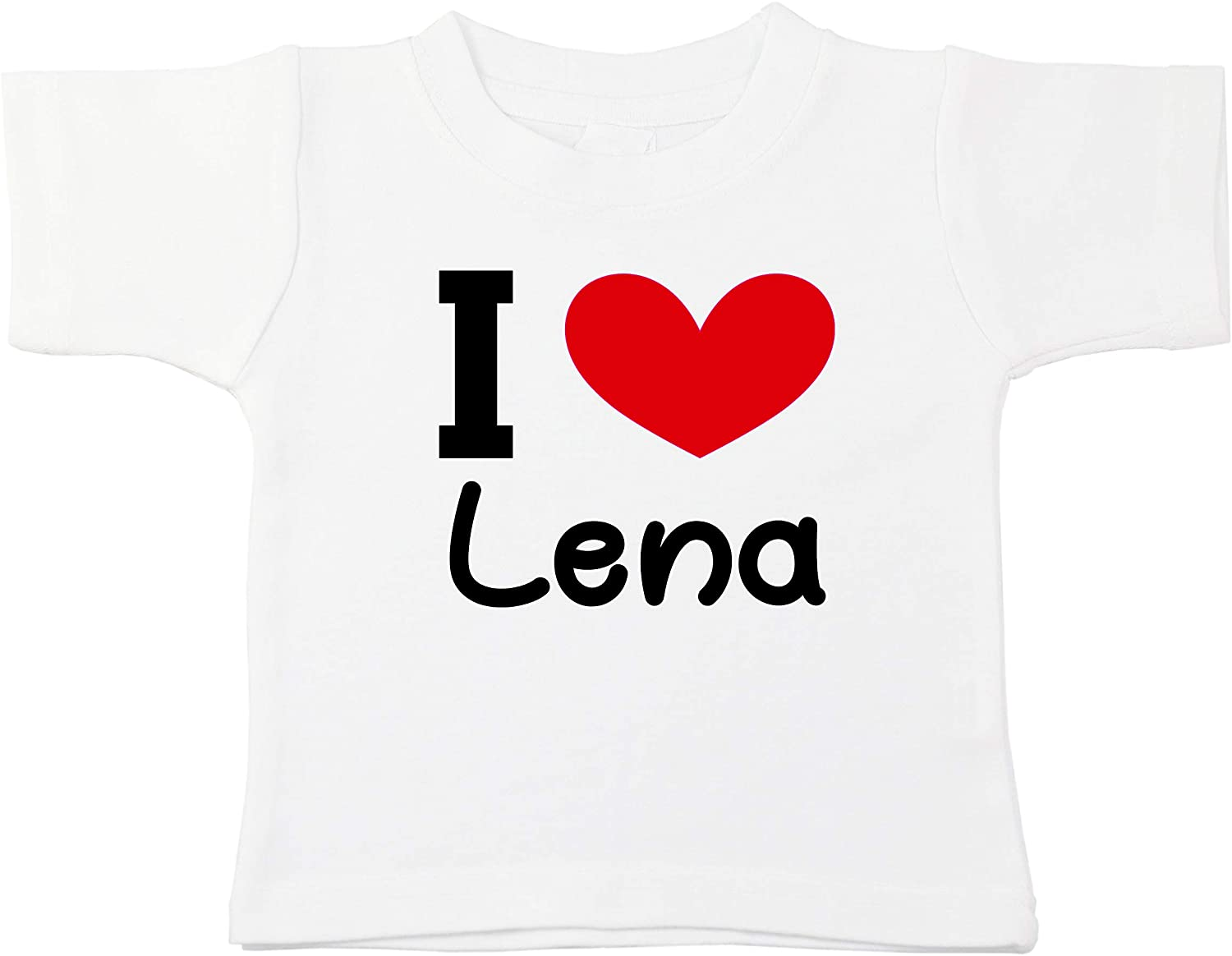 Kinacle I Love Lena Personalized Baby/Toddler T-Shirt