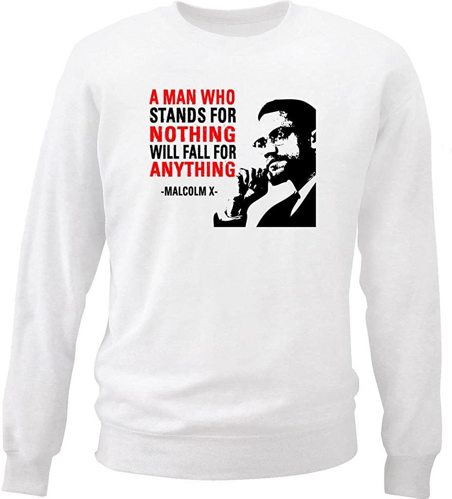teesquare1st Mens Malcolm X 1 White Sweatshirt