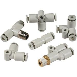 SMC KQ2H10-04NS connectors - kq2 fitting family kq2 10mm - fitting, male connector - package of 10