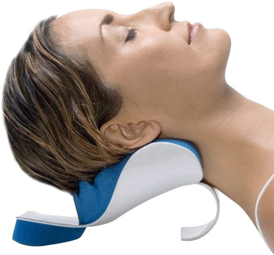 Cervical Neck Pillow - to Help Ease Neck Pain and Shoulder Pain and Provide Relief by Easing Tension - Memory Sponge Relaxing Device Massage Traction Pillow