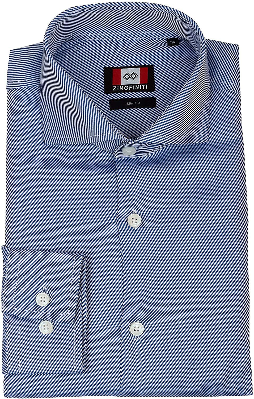 Zingfiniti John Cotton Men's Dress Shirt | Slim Fit