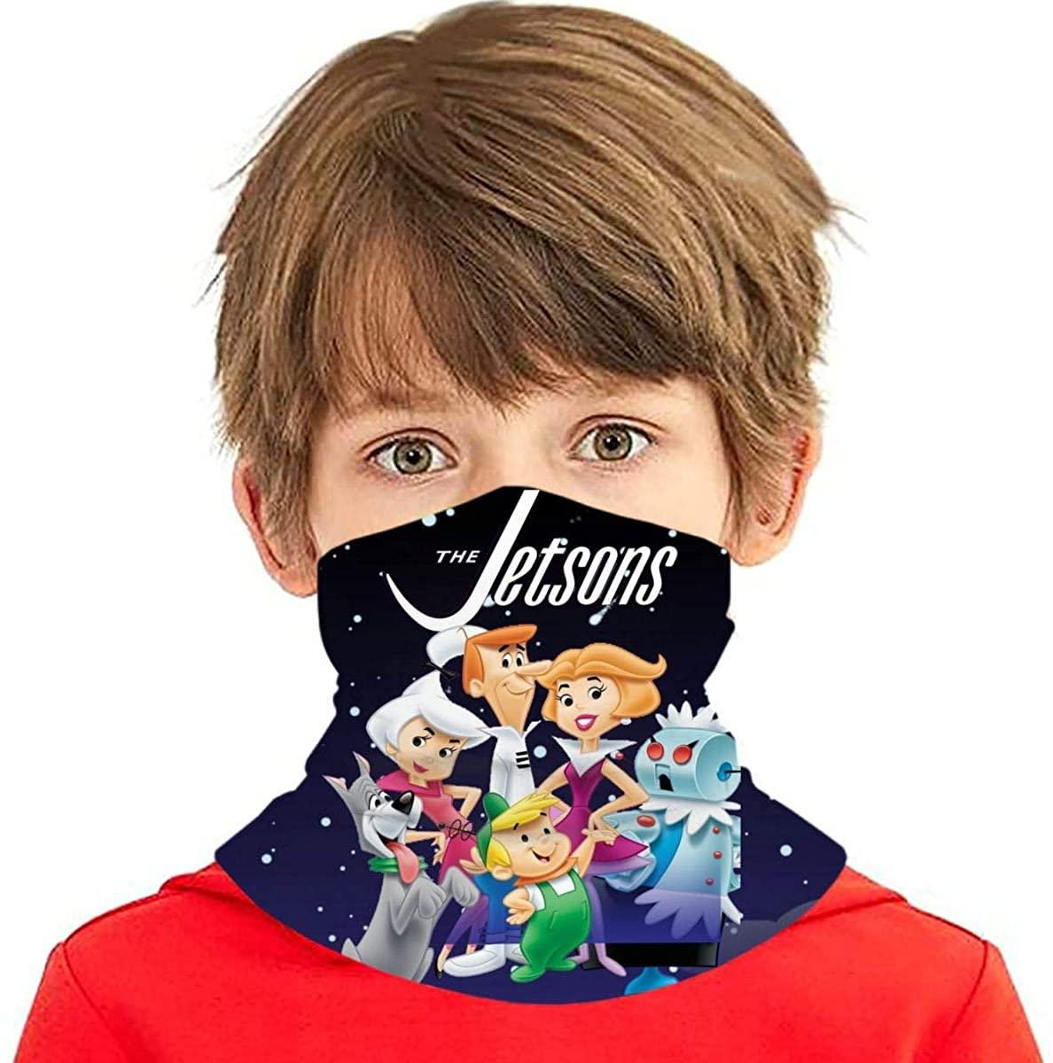 Jetsons Fashion Kids Bandana Ear Loops Neck Gaiter Scarf Dust Uv Protection For Boys Girls