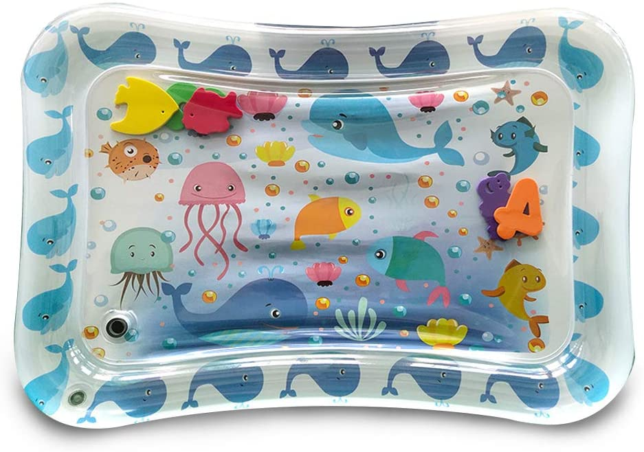 Safety Twinkles Tummy Time Play Mat Inflatable Baby Play Mat Premium Tummy Time Water Play Mat Toys Tummy Time Water Mat for Your Baby's Stimulation Growth Fun Baby Activity Center.