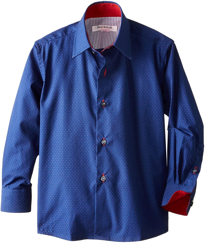 Isaac Mizrahi Little Boys' Two Tone Polka Dot Shirt