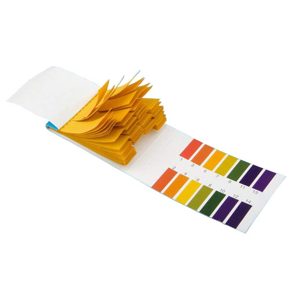 480 Pcs PH 1-14 Test Paper Litmus Strips Tester Water Cosmetics Acid Alkaline Test Kit for Liquids Water Cosmetic Saliva Urine Water Soil Testing Acid Alkaline Testing