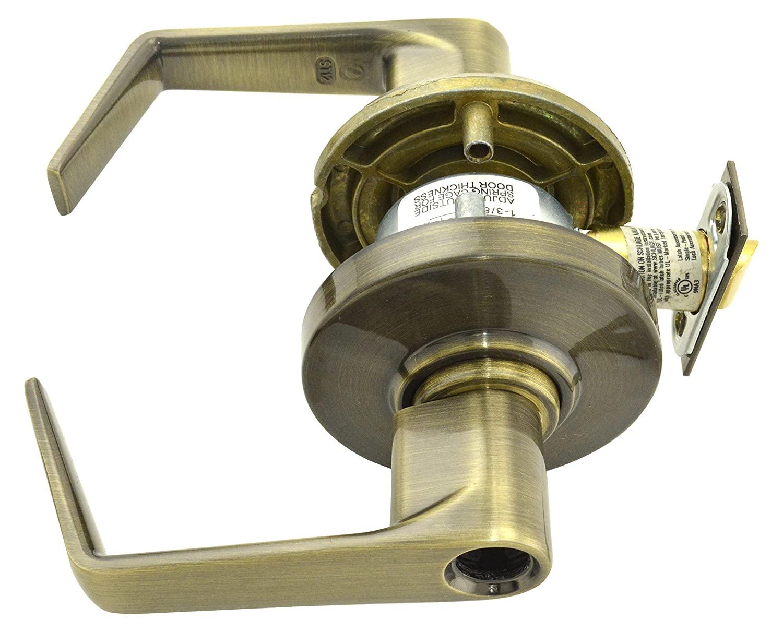 Schlage Commercial AL80SAT609 AL Series Grade 2 Cylindrical Lock, Storeroom Function, Saturn Lever Design, Antique Brass Finish