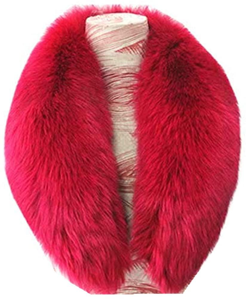 Gegefur 2018 Hot New Popular Genuine Real Fox Fur Collar Scarf Big Fur Collar (90cm, rose)