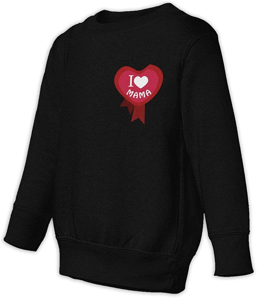 1836 I Love Mama Unisex Sweatshirt Youth Boy and Girls Pullover Sweatshirt