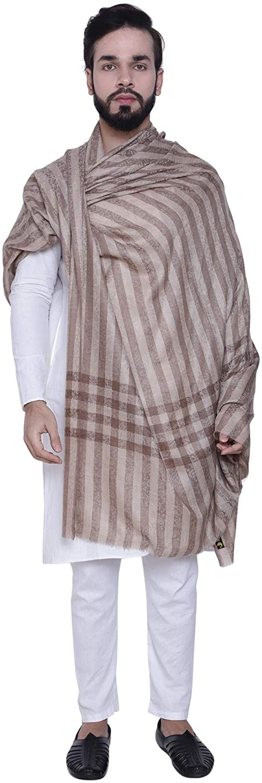 Trendy Unisex Woven Check & Stripe Design - Extra Fine Australian Merino Wool -Wrap/Shawl - Perfect Gift