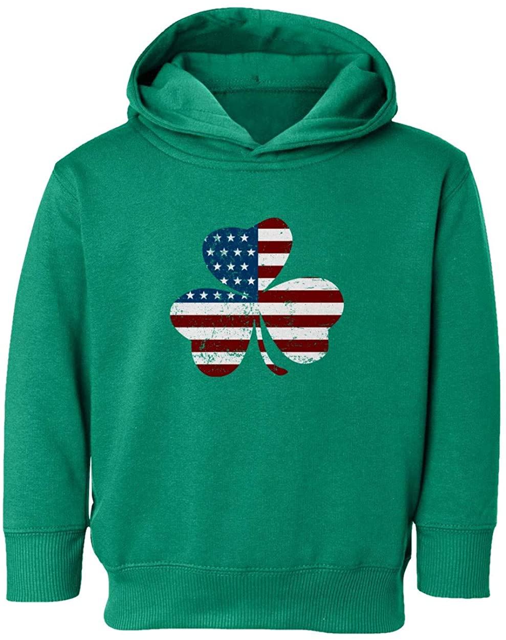 KING THREADS St Patricks Day Irish American Shamrock Toddler Hooded Sweatshirt