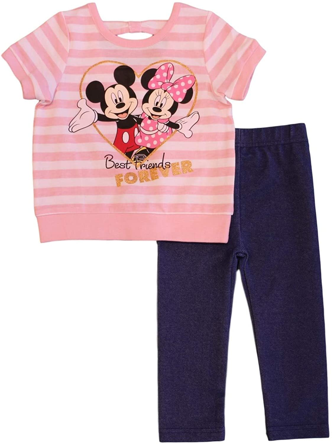Minnie Mouse Disney Baby Girls 2 Piece Jeggings Set