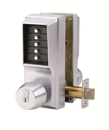 Kaba Simplex Keypad Entry Lock with Key Override, 2.75