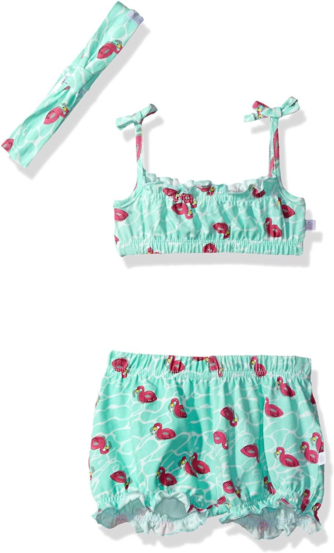 Rosie Pope Girls Baby Newborn & Infant Playwear Sets, Flamingo, 12M