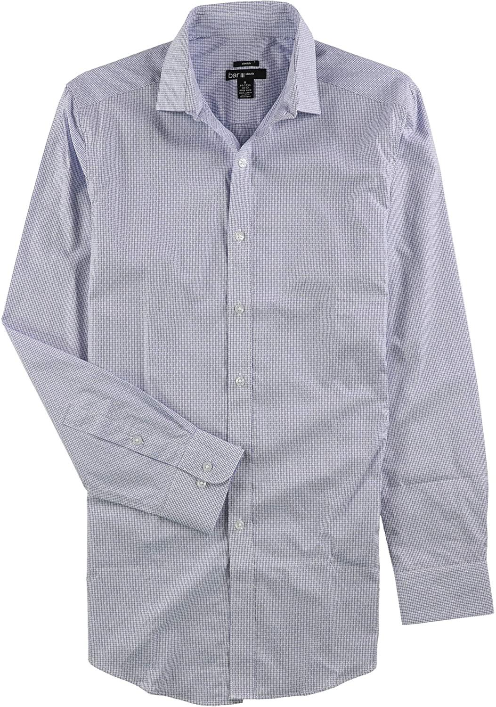 Bar III Mens Slim Fit Stretch Button Up Dress Shirt