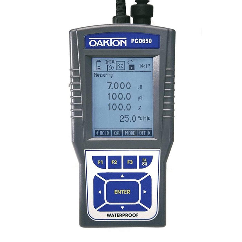 COLE PARMER 35434-70 Oakton Waterproof PCD 650 Multiparameter Meter Kit, 3-1/4