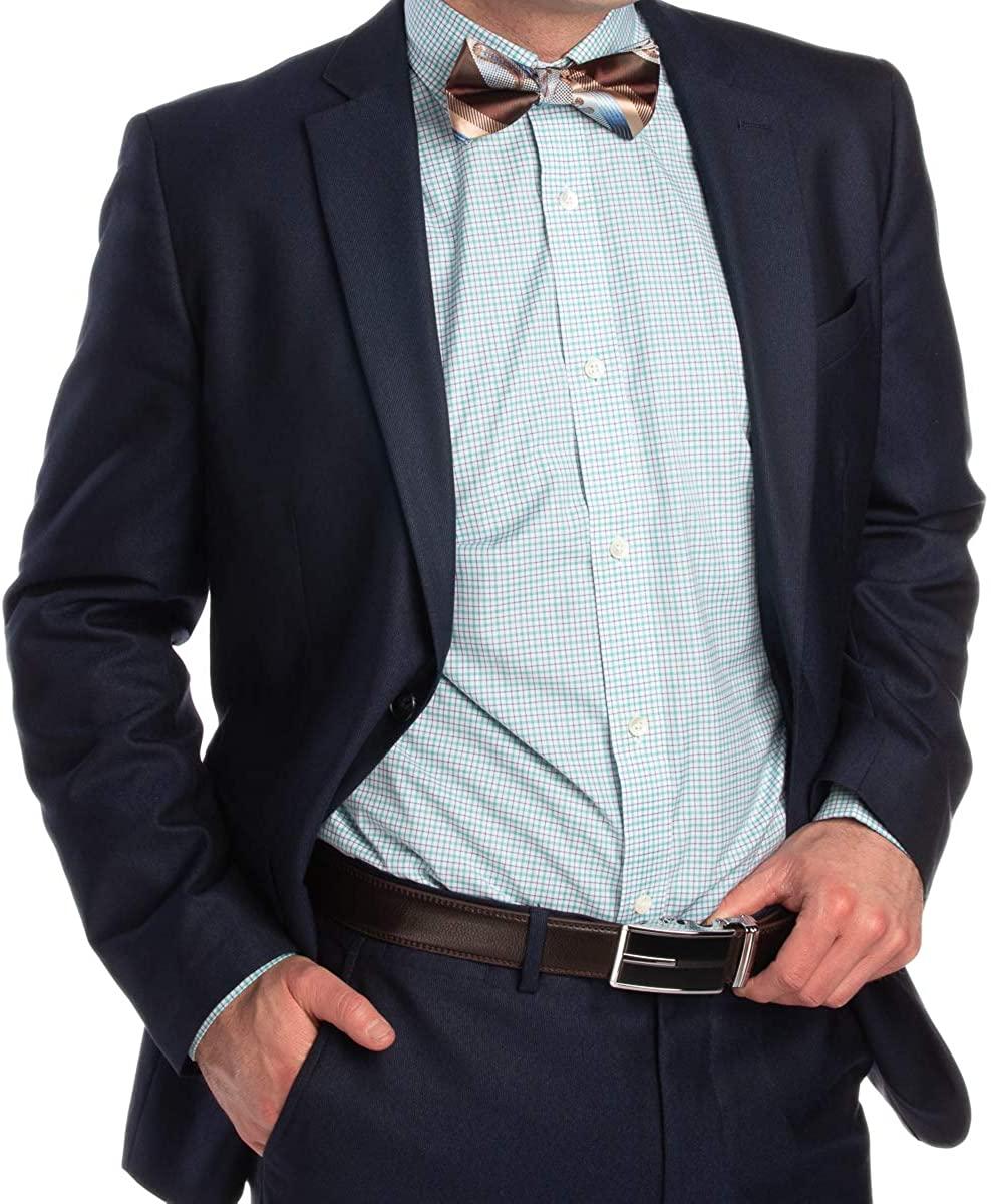 Hickey Freeman Men's Long Sleeve 100% Cotton Button Up Down Dress Shirt