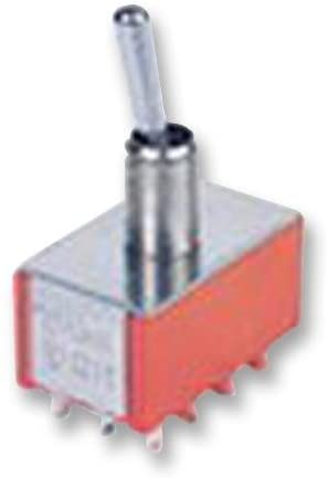 1M46T1B5M1QE - Toggle Switch, On-On-On, 4PDT, Non Illuminated, 1M46 Series, 5 A, Panel Mount, (Pack of 5)