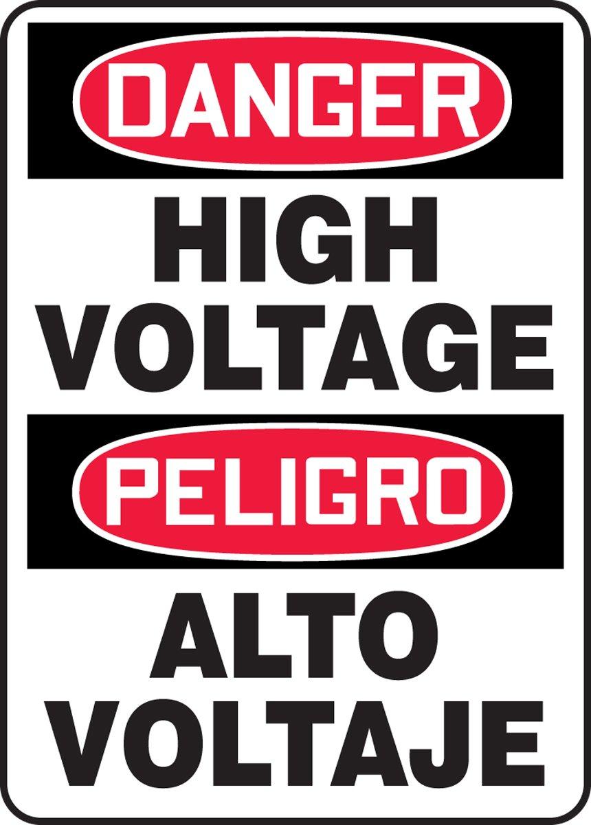 DANGER HIGH VOLTAGE (BILINGUAL)