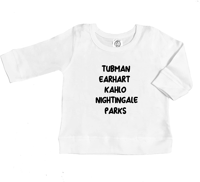 Bad Ass Ladies Feminist Baby Toddler Organic Cotton Long Sleeve T Shirt
