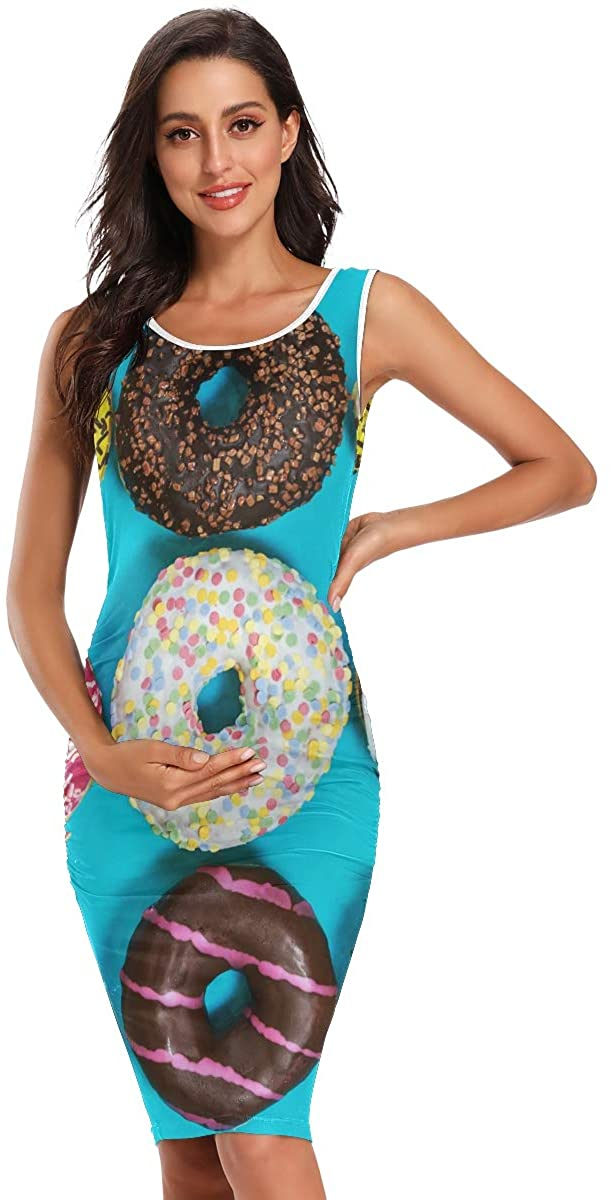 SHNUFHBD Maternity Clothes,Maternity Maxi Dress,Women Summer Sleeveless Daily Wearing