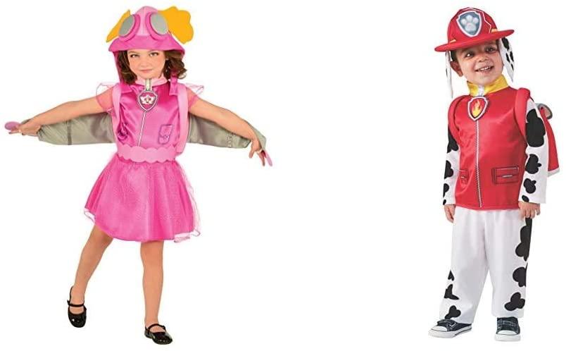 Rubie's Paw Patrol Skye Child Costume, Small Bundle Paw Patrol Marshall Child Costume, Small