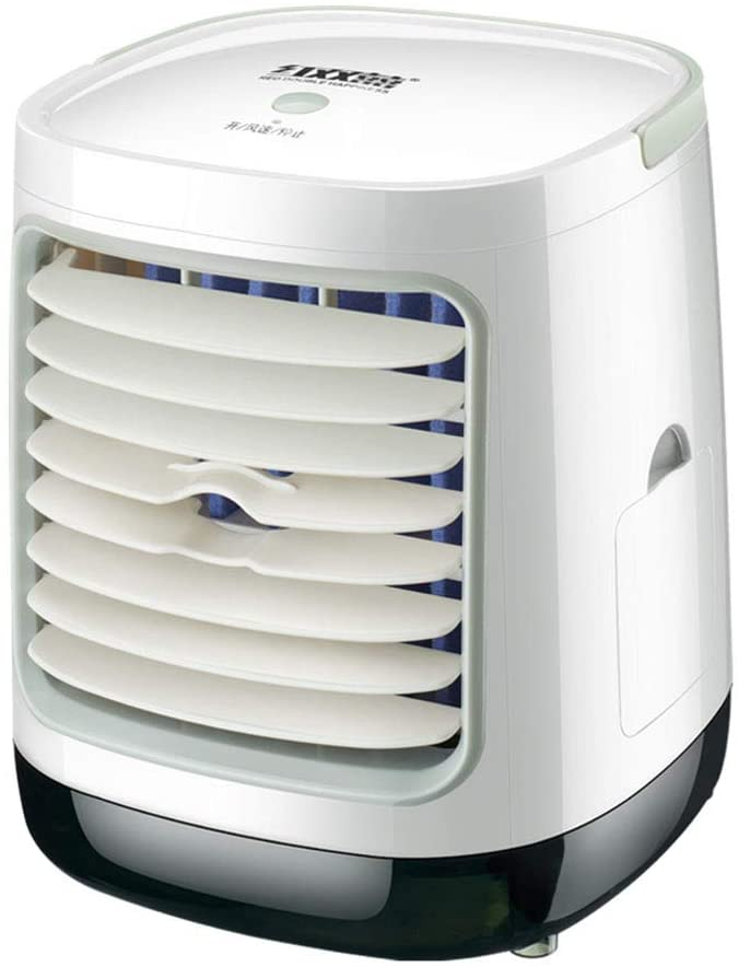 HUATINGRHPM Home Mini Evaporative Air Cooler Misting Fan Air Conditioner Personal Space Cooler Desktop Portable 3 Speed for Room, Office, Kitchen Gift