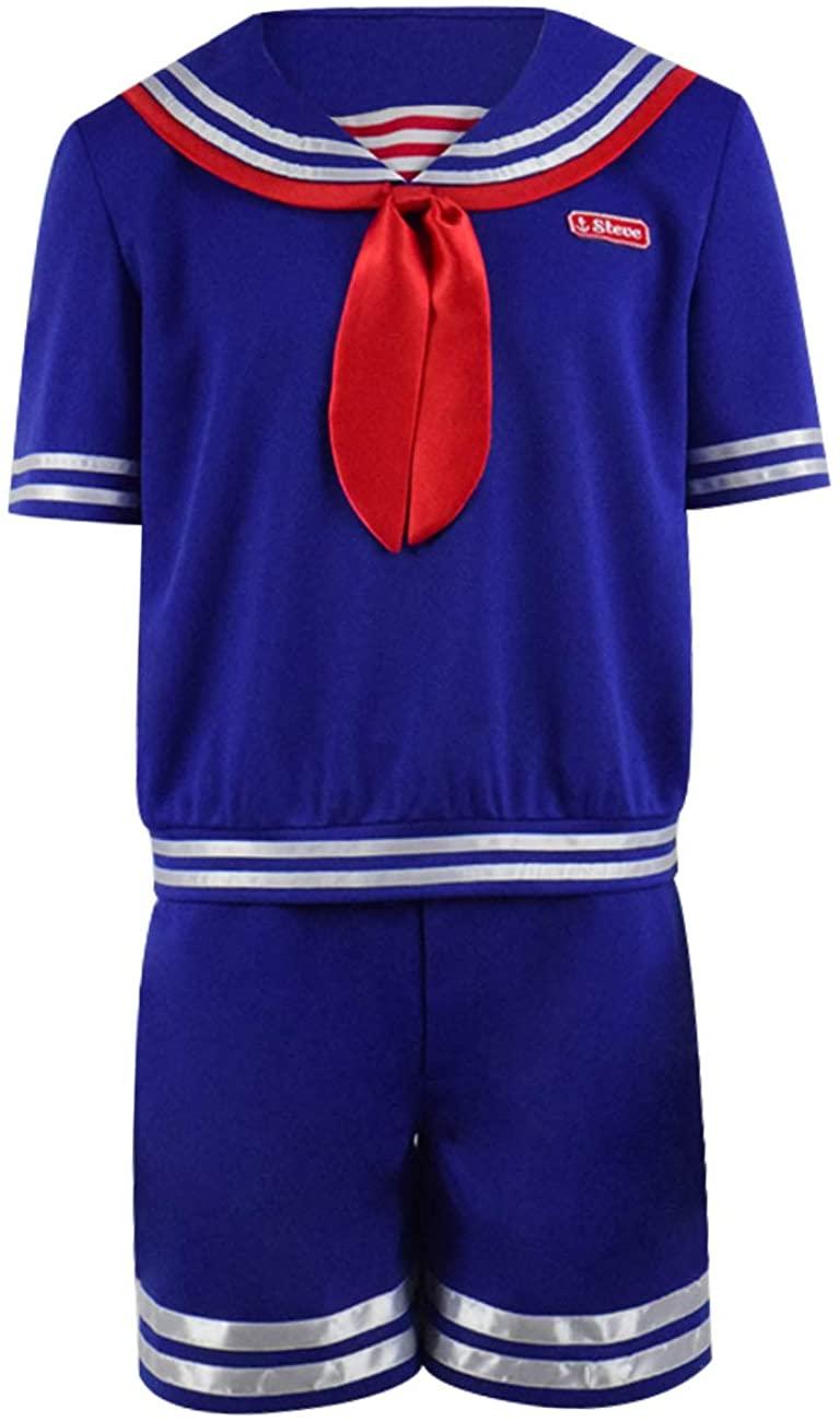 2019 Hot TV Series Things Season 3 Steve Robin Costume Boys Girls School Navy Uniform Costume