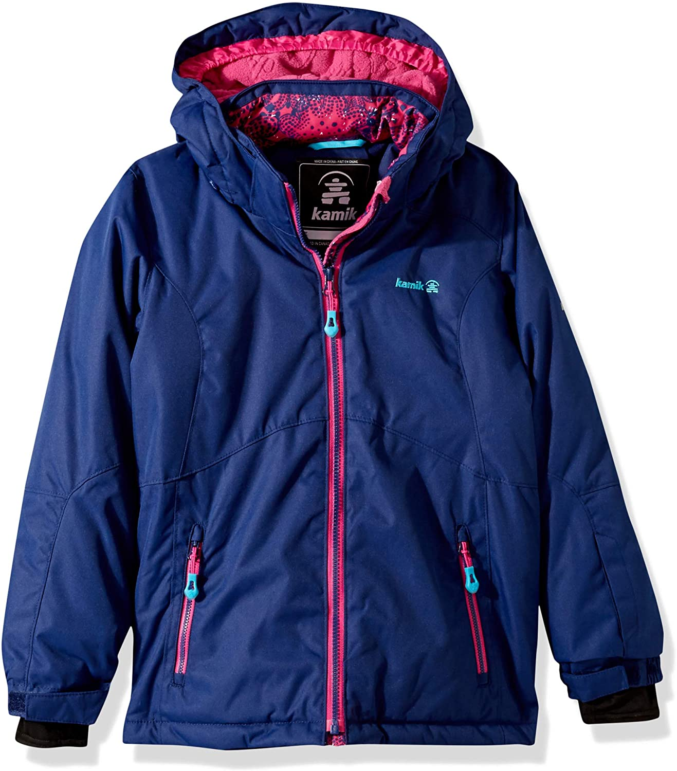 Kamik Winter Apparel girls Maeve Solid Insulated Jacket