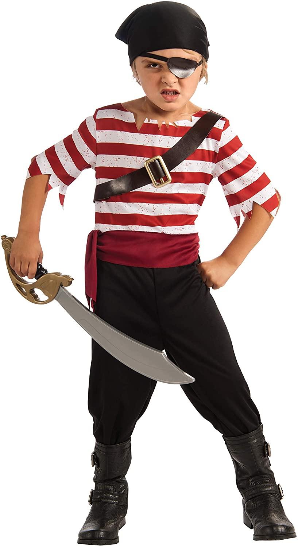 Halloween Sensations Child's Black Jack The Pirate Costume, Small
