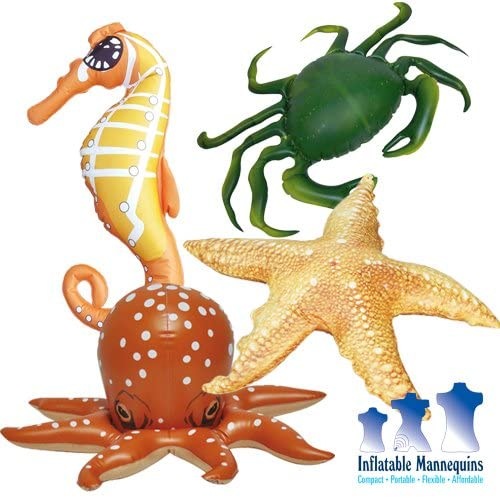 Inflatable Sea Floor Creature Combo, 2 Pack