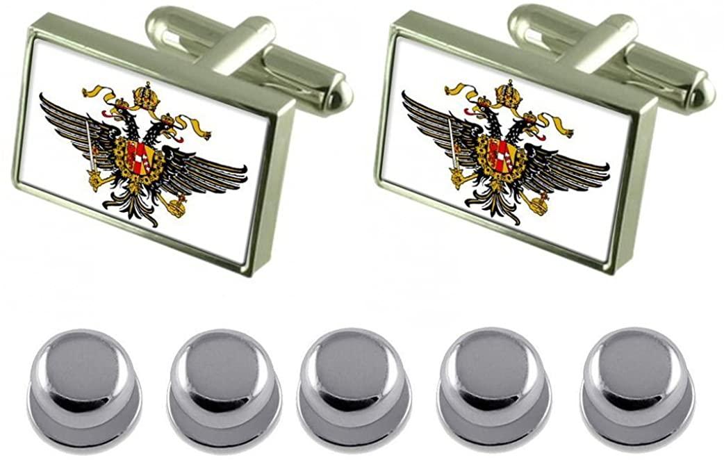 Select Gifts Shirt Dress Studs Dragoon Guards Military England Flag Cufflinks