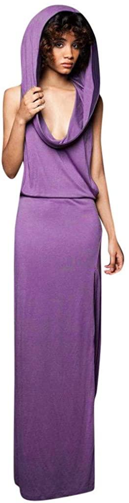 NANTE Top Loose Women's Dress Backless Sleeveless Hooded Maxi Long Dresses Vintage Celtic Medieval Skirt Ladies Gown Sundress