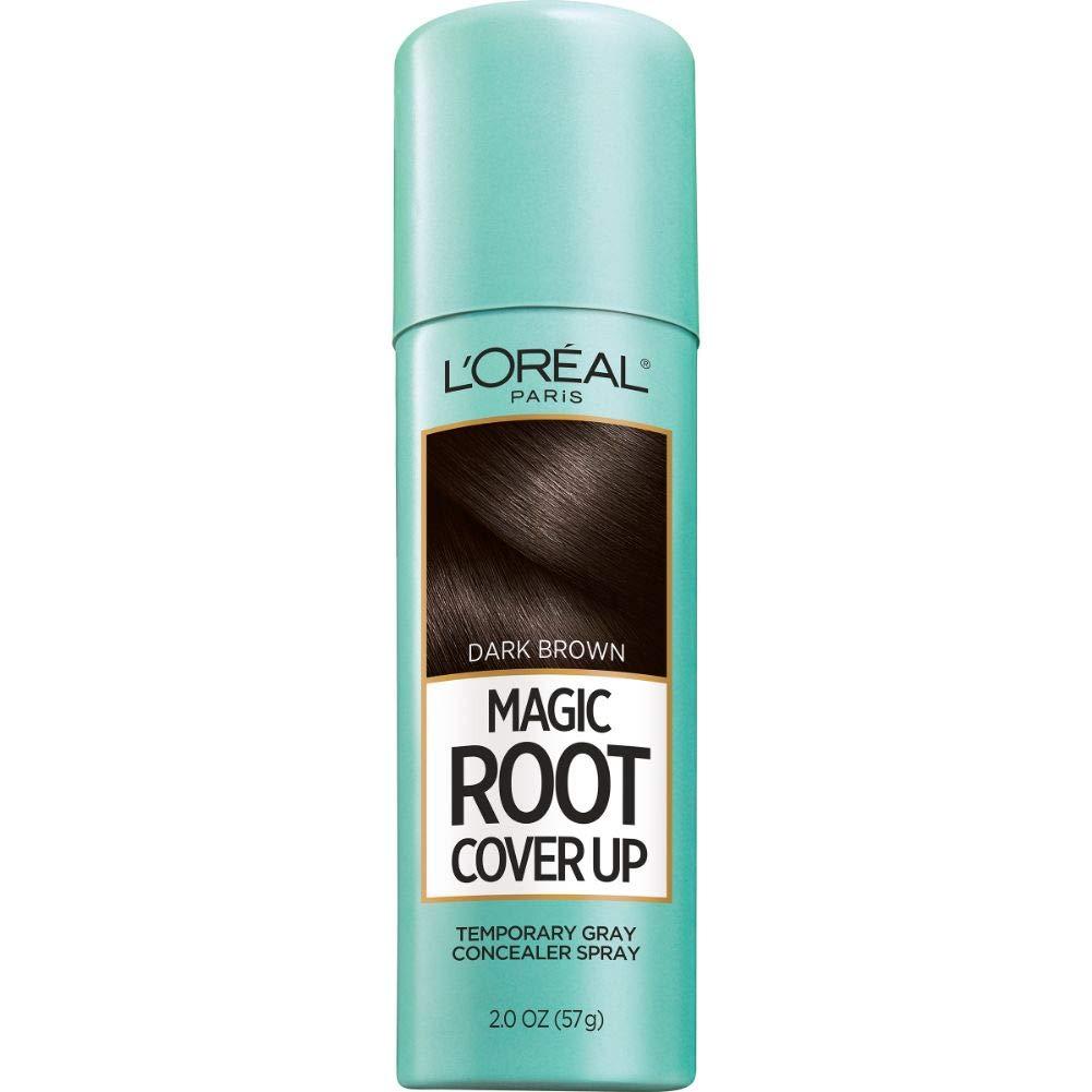 LOreal Paris Magic Root Cover Up Gray Concealer Spray Dark Brown 2 Oz