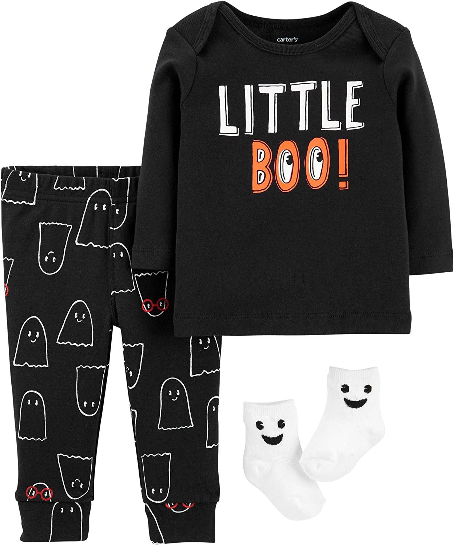 Carter's Baby Boy's 3-Piece Little Boo Halloween Set