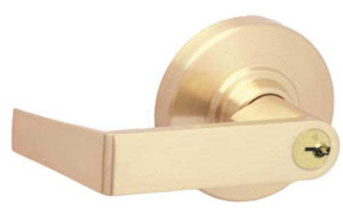 Schlage Commercial ND40RHO606 ND Series Grade 1 Cylindrical Lock, Privacy Function, Rhodes Lever Design, Satin Brass Finish
