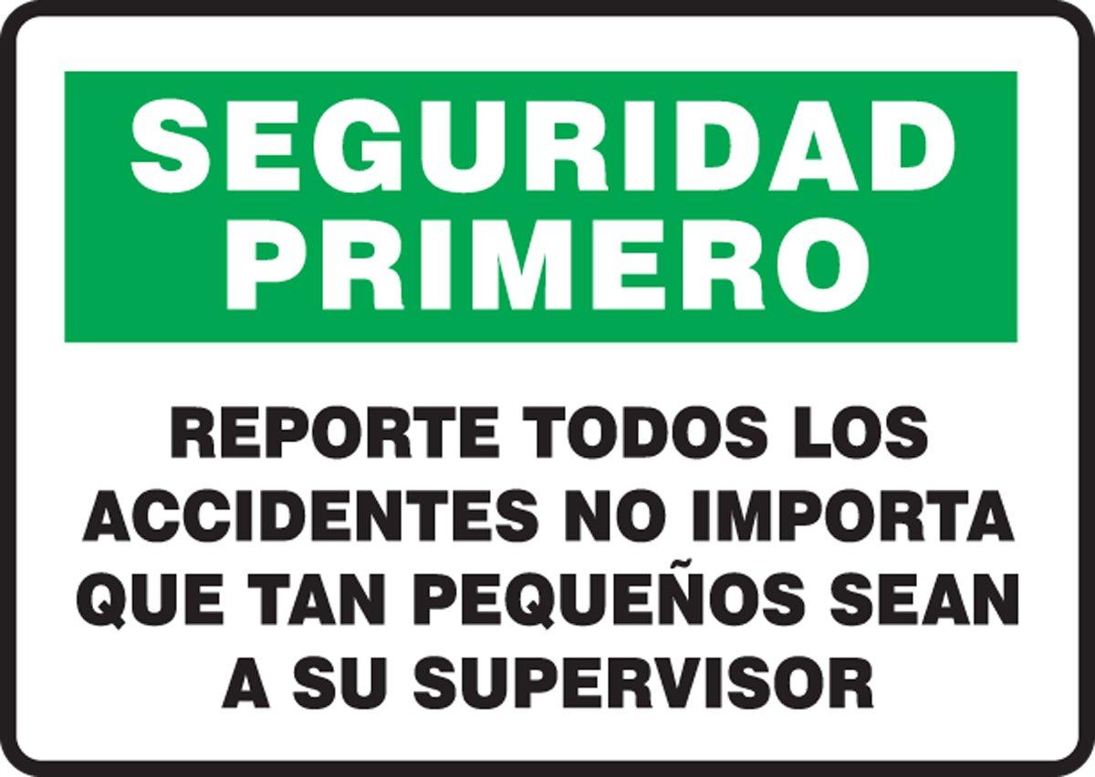 REPORTE TODOS LOS ACCIDENTES NO IMPORTA QUE TAN PEQUENOS SEAN A SU SUPERVISOR (3 Pack)