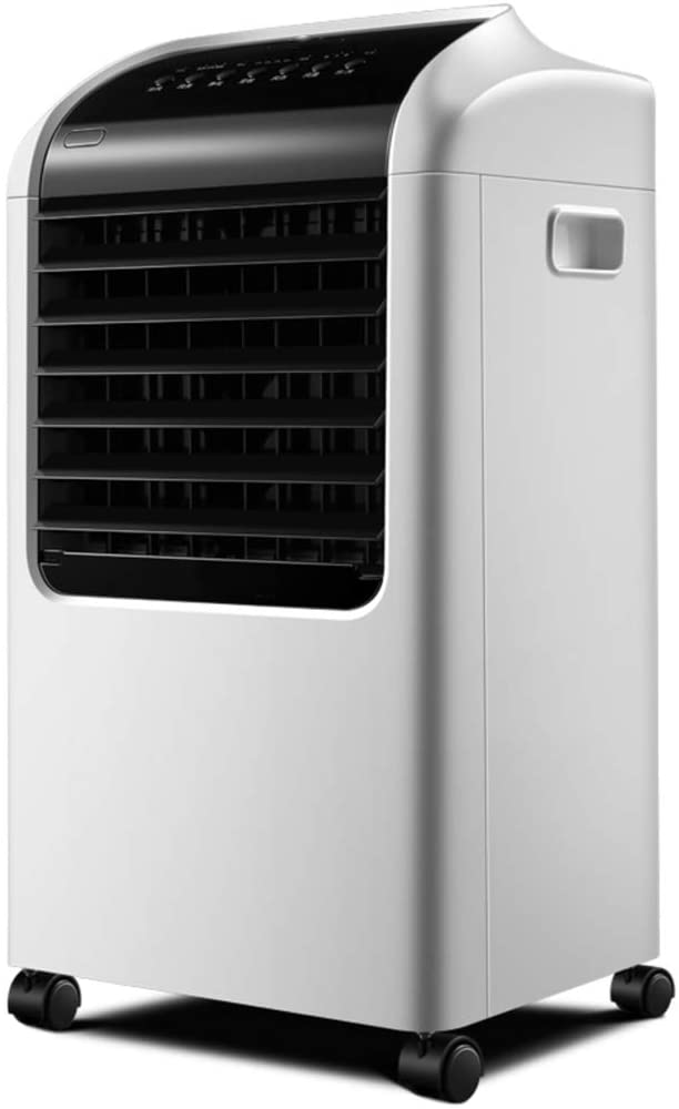 YEYE Small Evaporative Air Cooler,Remote Portable Timing Adjustable Air Conditioner Bedroom Office Humidifier Purify-White 38.1x33.6x69.5cm(15x13x27inch)